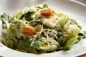 gluten free caesar salad lunch idea